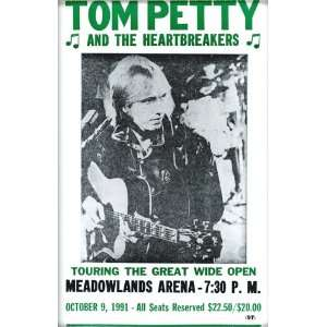 Tom Petty and The Heartbreakers 14 X 22 Vintage Style
