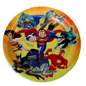 Justice League  Party Supplies   Dinner Plates (8 Count