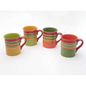 Certified International Hot Tamale Mugs (Set of 4