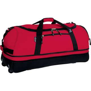 32 Bottom Expandable Rolling Duffel Bag, Red/Black Luggage