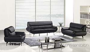modern design leather sofa loveseat chair set couch home furniture