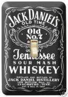 JACK DANIELS LABEL LIGHT SWITCH SINGLE PLATE COVER   NR