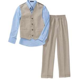 George   Boys 4 Piece Shirt, Pants, Vest and Tie Set