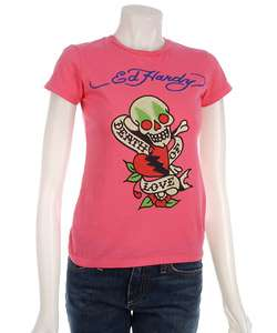 Ed Hardy Womens Death of Love T shirt