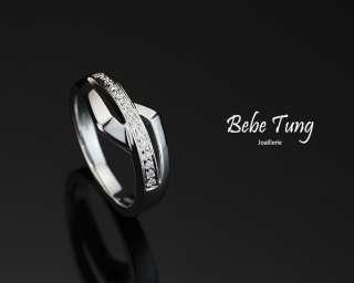 18K750 White Gold Diamonds Ring
