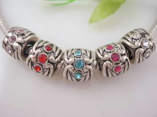 10 Pcs Charms Antique Silver Screw Spacer Beads Fits Bracelet AS38