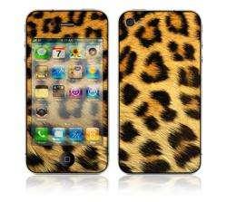 Leopard Apple iPhone 4 Vinyl Skin (Sticker)