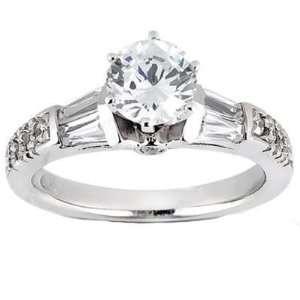 1.39 ct Ladys Round Cut Channel Baguette Diamond