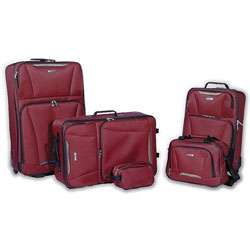 Tag Springfield 5 piece Red Luggage Set