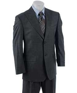 Sean John Mens 2 Button Side Vent Sharkskin Suit