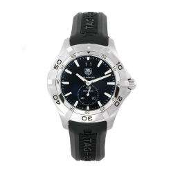 Tag Heuer Mens Aquaracer 300M Black Rubber Strap Black Dial Watch