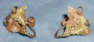 Lovely Vintage 10K Black Hills Gold Earrings 2.3 grams