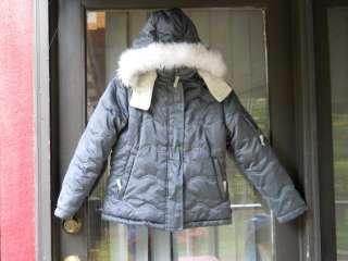 size 10~12 Rothschild coat jacket Faux fur hood Fleece lining