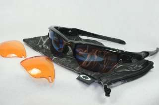 NEW OAKLEY FAST JACKET SUNGLASSES POLISHED BLACK W/ G30 Iridium