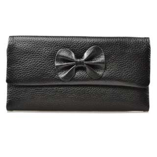 Colors Ladys Genuine Real leather BOW wallet Purse Cluth,Soft