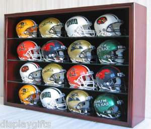 16 Mini Helmet Holder Shadow Box Display Case Frame