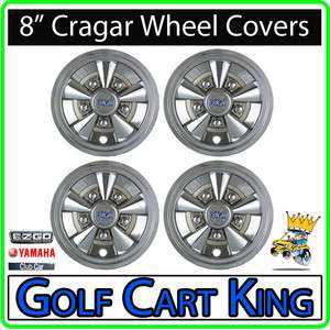 NEW 8 Cragar Golf Cart Wheel Covers Hub Caps  Set of 4