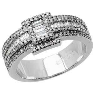 0.82 Carat 18kt White Gold Diamond Ring Jewelry