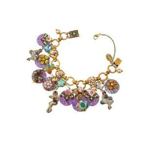 Negrin Multi Layered 20th Century Collection Bracelet with Colorfully