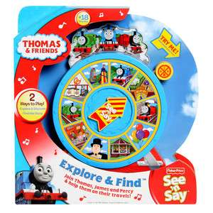 Fisher Price Thomas Friends Explore & Find See n Say Toddler Boy Gift