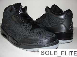 NEW 2011 DS Nike Air Jordan Retro BLACK FLIP 3 III sz 11