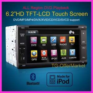 screen Car DVD Player IPOD/IPHONE FM/RDS BLUETOOTH Dual zone T623