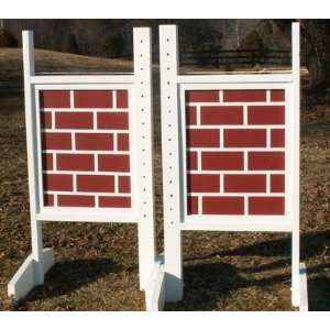 Brick Wall Pattern Wing Standards Wood Horse Jumps: Sports & Outdoors
