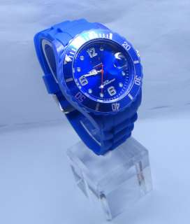 FASHION Silicone Rubber Quartz Wrist Watch Unisex With Calendar