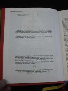 THE ROMAN MISSAL Two Volume Set Catholic Book Publishing, New York
