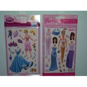 Disney Princess Cinderella & Barbie Magnetic Activites Sold As a Set