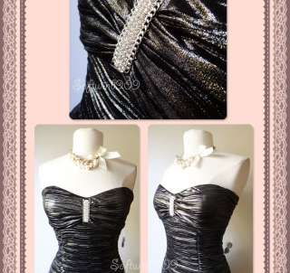 NEW Forever 21 Dark Metallic Gray Ruched Rhinestone Accent Sexy
