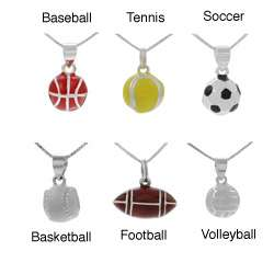 Sterling Silver Sports Theme Pendant (Options)
