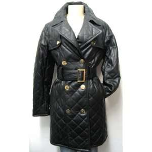 Baby Phat Leather Trench Coat Jacket $500 Retail