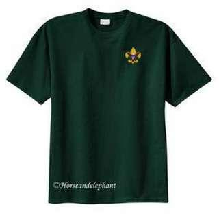 Boy Scout Green t shirt Class B shirt BSA emblem New