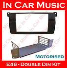 BMW E46 3 Series Double Din Fascia Bezel Facia Adaptor