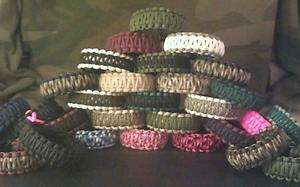 550 Paracord Survival Bracelet Choose Your Own Color & Size King Cobra