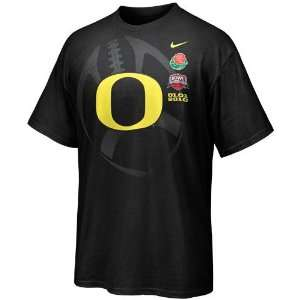 Nike Oregon Ducks Black 2010 Rose Bowl Bound T shirt
