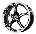 18 Black Ice VB8 Black&chrome new wheels & New tires Fit Nissan
