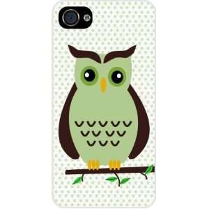 and Brown Deco Owl White Hard Case Cover for Apple iPhone® 4 & 4s