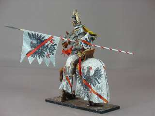 painted mounted medieval prince figure miniature knight armor