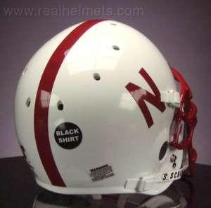 NEBRASKA CORNHUSKERS Football Helmet BLACK SHIRT DECAL