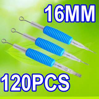 Pro 20XTattoo Blue Disposable 16MM 5/8 Grip Tubes& Flat Needles Kit