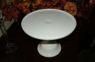 12 White Milk Glass Pedestal Cake Stand Plate