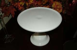 12 White Milk Glass Pedestal Cake Stand Plate