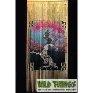 130795835 bonsai tree 90 strand bamboo painted beaded curtain jpg