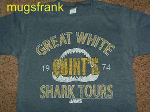 New Jaws Movie Quints Great White Shark Tours T Shirt