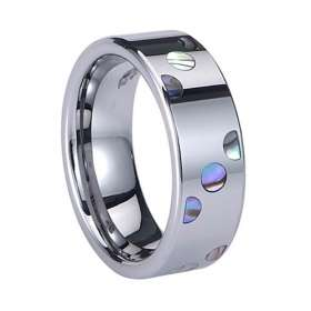 Abalone Shell Inlay Tungsten Carbide Ring TU6000