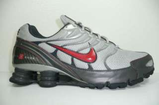 Nike + Shox Turbo VI Mens Size 11 Running Shoes Grey Red NZ Trainer