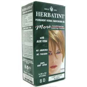 Herbatint Permanent Herbal Haircolor Gel, Light Golden Blonde, 4.56 fl