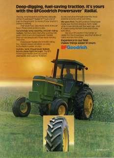 1980 BF Goodrich & John Deere 4430 Farm Tractor Tire Ad
